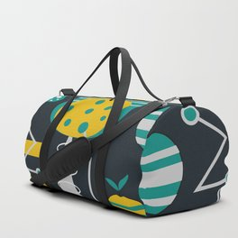 Mid-century carrots, apples and trees Duffle Bag