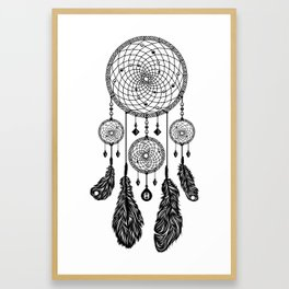 Dreamcatcher (Black & White) Framed Art Print