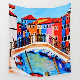 Colors of Venice Italy Wall Tapestry