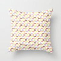 macaroons Throw Pillows featuring Macaroons by Rehan Butt