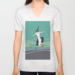 [ LET YOURSELF GO! ] The Vietnamese lady. Unisex V-Neck