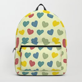 Colorful Chalk Hearts Backpack