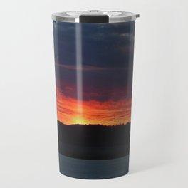 Lindisfarne castle sunset Travel Mug