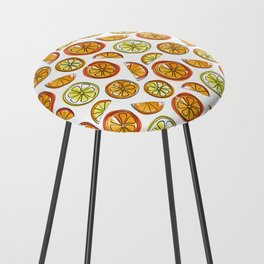 Illustrated Oranges and Limes Counter Stool