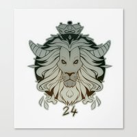 leo Canvas Prints featuring leo by andrahilde