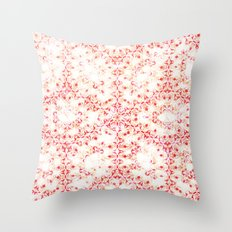 Damask Flower Throw Pillow