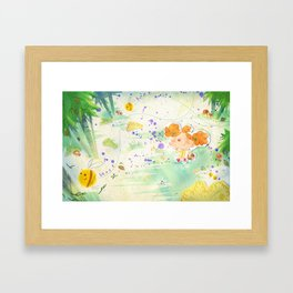Mushroom hunt_panorama Framed Art Print
