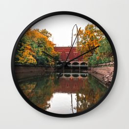 Autumn on the Mississippi River-Minneapolis Minnesota Wall Clock