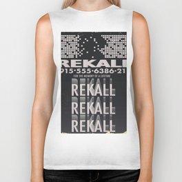 Rekall ( Total Recall ) Vintage magazine commercial. Biker Tank