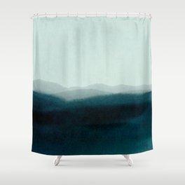morning mist scenery Shower Curtain