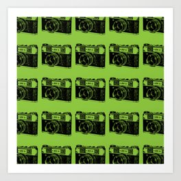 Camera Pattern Art Print