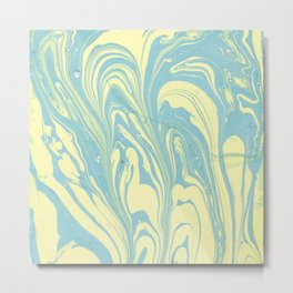 Marble of Yellow & Green Metal Print