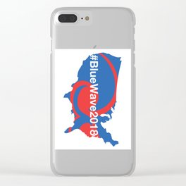 #BlueWave2018 Clear iPhone Case