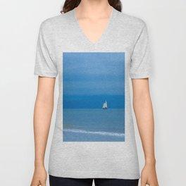 Sailing the Ocean Blue Unisex V-Neck