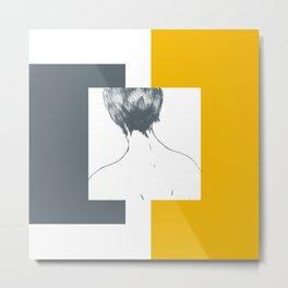 mustard—abstract longing Metal Print