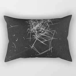 Brush Dust Heart Symbol Rectangular Pillow