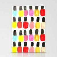 nail polish Stationery Cards featuring Nail Polish by Bouffants and Broken Hearts