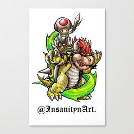 Insanity n Art.'s Bowser n Toads Adventure Design Canvas Print