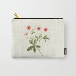 Vintage Botanical Illustration Potentilla by M.Roscoe Carry-All Pouch