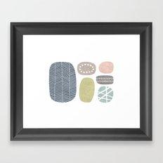 Painted Stones Framed Art Print