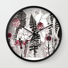 Rojo (from Botanical Series) Wall Clock