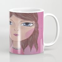 courage Mugs featuring Courage by ArtByBeata
