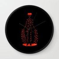blood Wall Clocks featuring Blood by Jenny Panush