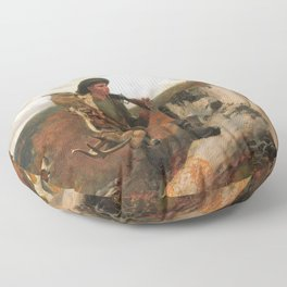 A Huntsman And Dogs - Digital Remastered Edition Floor Pillow