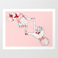 flawless Art Prints featuring Flawless  by scoobtoobins