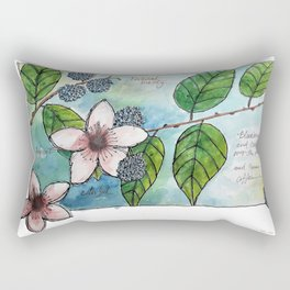 Blackberries & Cream Rectangular Pillow