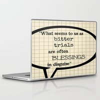 oscar wilde Laptop & iPad Skins featuring Oscar Wilde Thought Quote by Allyson