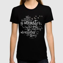 Six of Crows - Monster - Black T-shirt