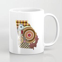 Georgia State Map Coffee Mug