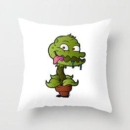 Carnivorous plant. Throw Pillow