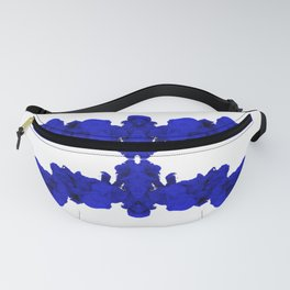 Blue Ink Drop in Water Fanny Pack