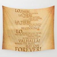 viking Wall Tapestries featuring Viking Prayer by Matthew Bartlett