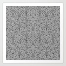 Art Deco in Black & Grey Art Print
