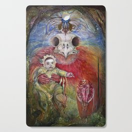 The Surrogate Mother-Goddess of Wisdom holding Alter-Ego Baby Bogomil Cutting Board
