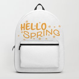 Hello spring and Flowers Backpack