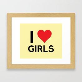 I love Girls Framed Art Print