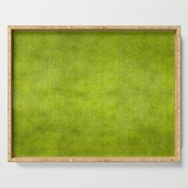 """Summer Fresh Green Garden Burlap Texture"" Serving Tray"