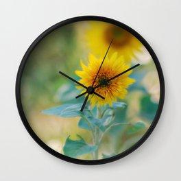 Kelly's Sunflowers Wall Clock