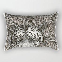 Bengal in Bamboo Rectangular Pillow