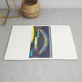 1956 24 Hours of Le Mans Race Poster Rug