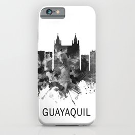 Guayaquil Ecuador Skyline BW iPhone Case