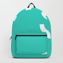 LETTER S (WHITE-TURQUOISE) Backpack
