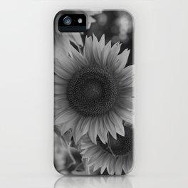 girasol (blanco y negro) iPhone Case