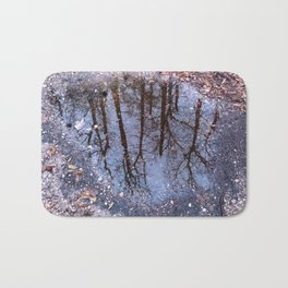 A forest in the puddle Bath Mat