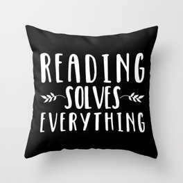 Reading Solves Everything (inverted) Throw Pillow