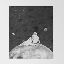 The greatest moon. Throw Blanket